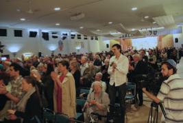 Crowd at Holocaust Memorial Service