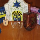 Dreidels and Menorah